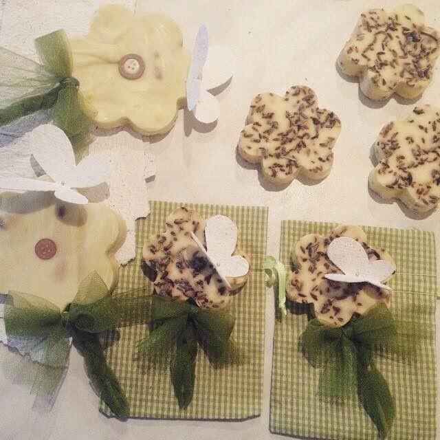 Bomboniere fatte a mano con saponi aromatici