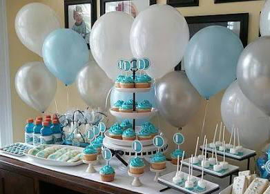 snoeptafel blauw, candy buffet blauw, candybar blauw, candy tafel blauw