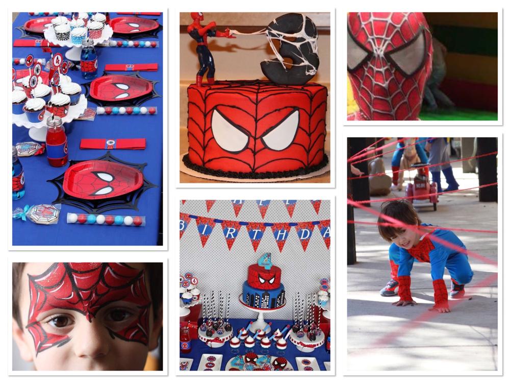 Spider-Man taart, spidermanfeestje, spiderman thema,