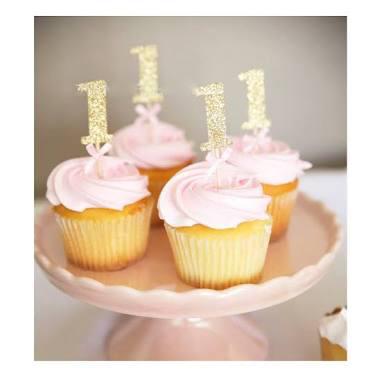 cupcake eerste verjaardag, cupcake 1 , cupcake roze