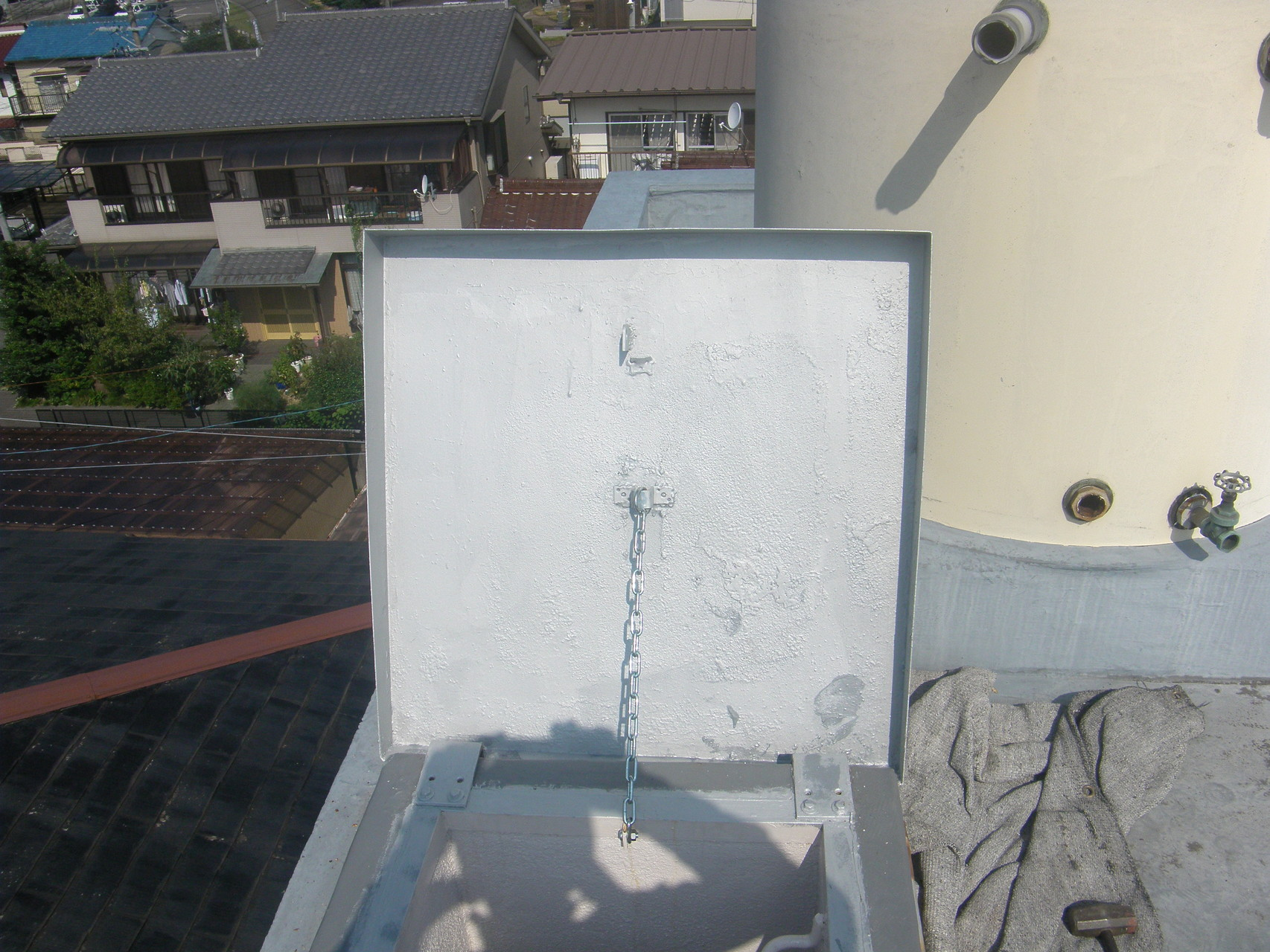 屋上ハッチ改修工事:工程写真