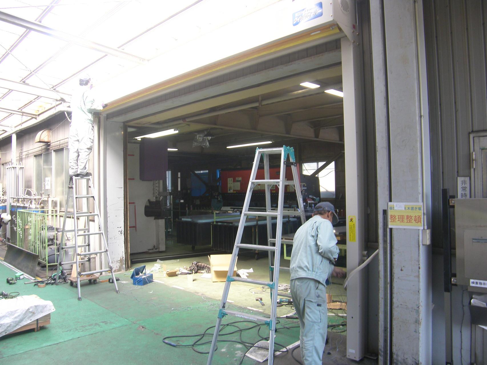 シートシャッター新設工事:工程写真