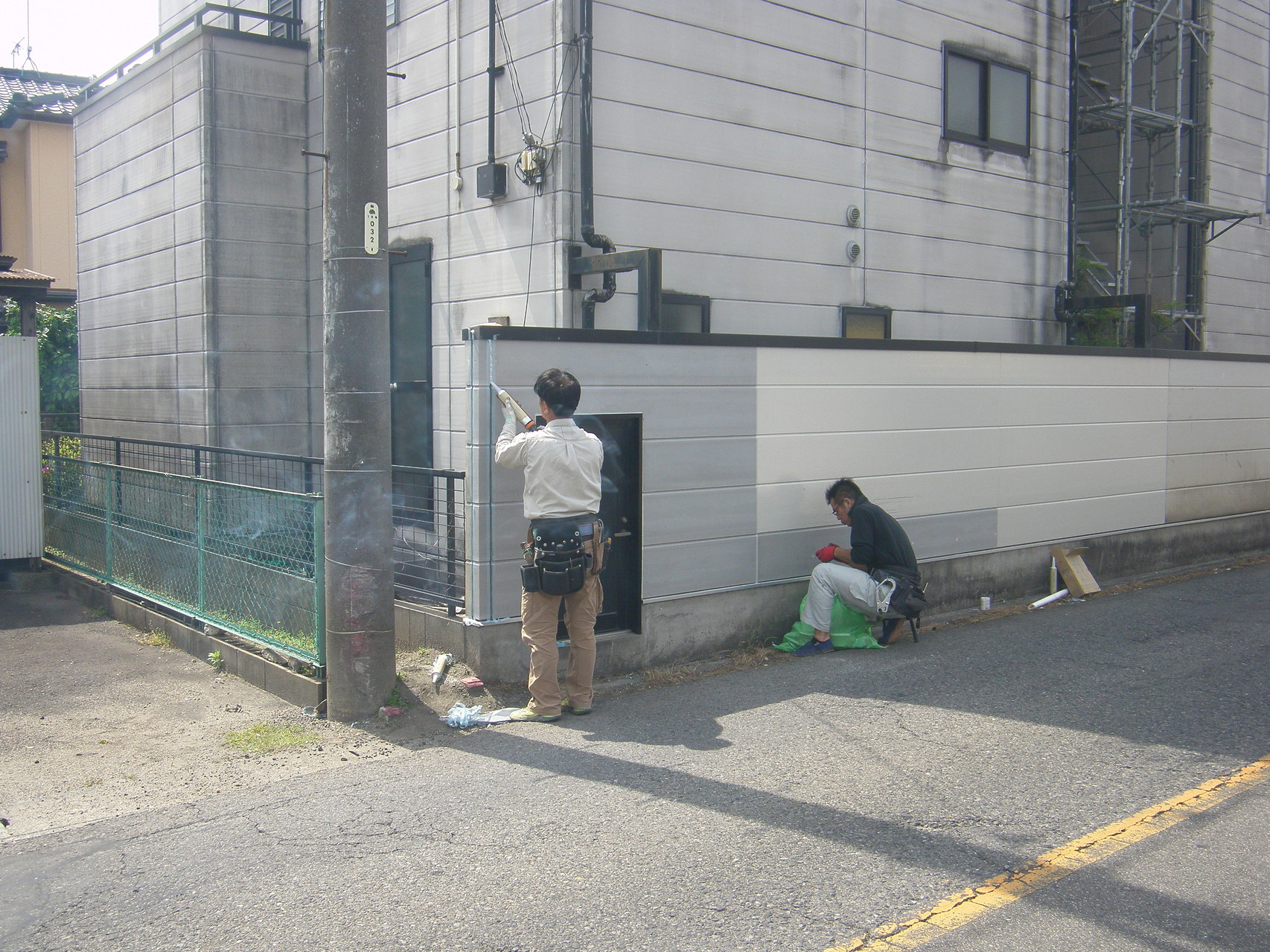 道路境界塀改修工事:工程写真