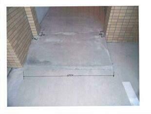 スロープ鉄板新設工事:工事前