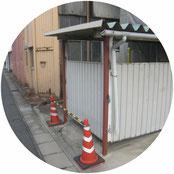 駐輪場柱補強工事