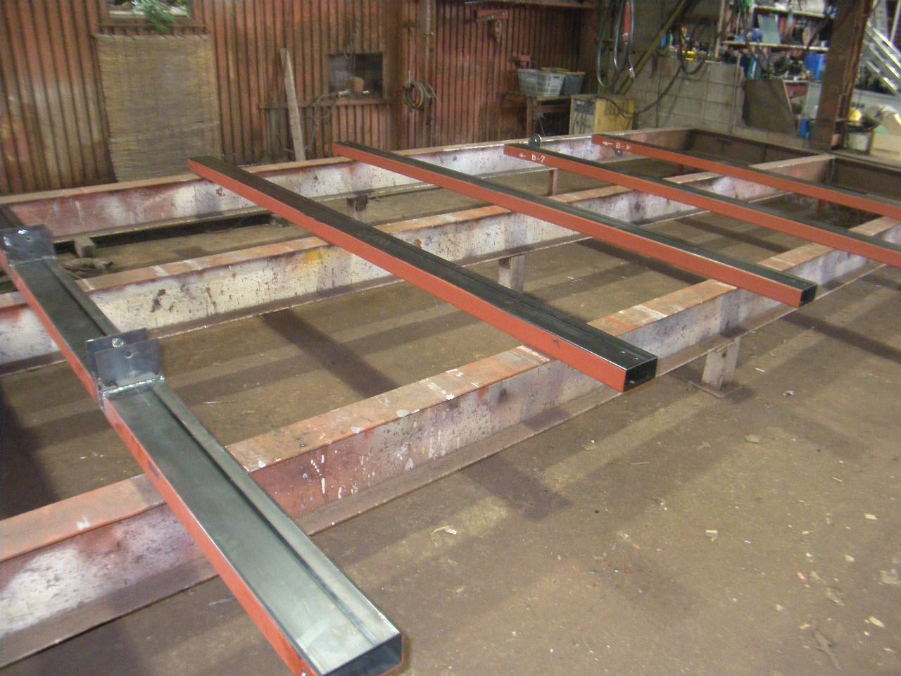 中二階拡張鉄骨工事:工程写真