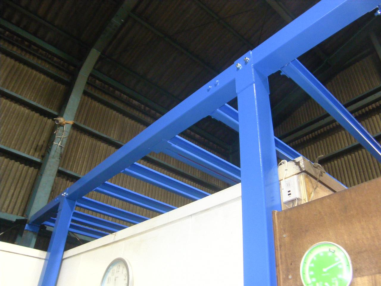工場内収納棚新設工事:工程写真