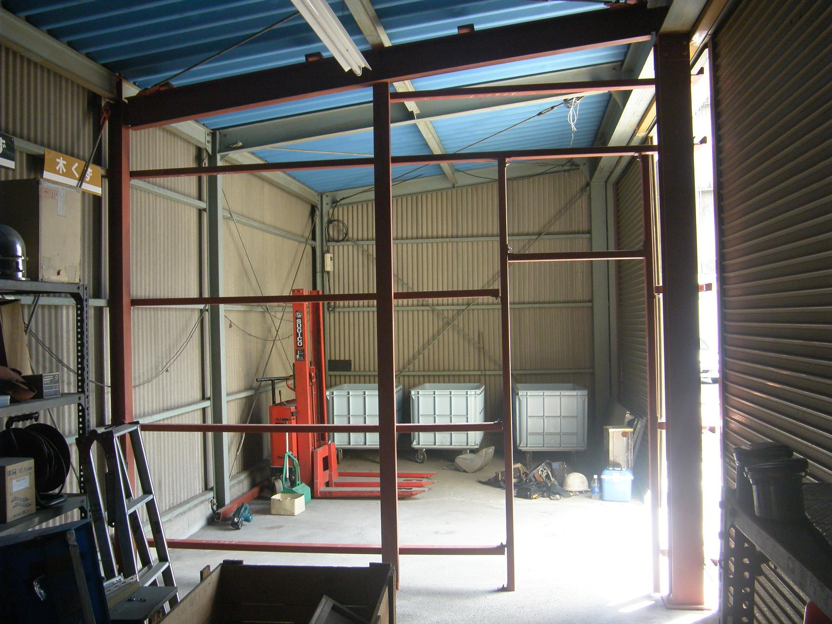 倉庫改修工事:工程写真