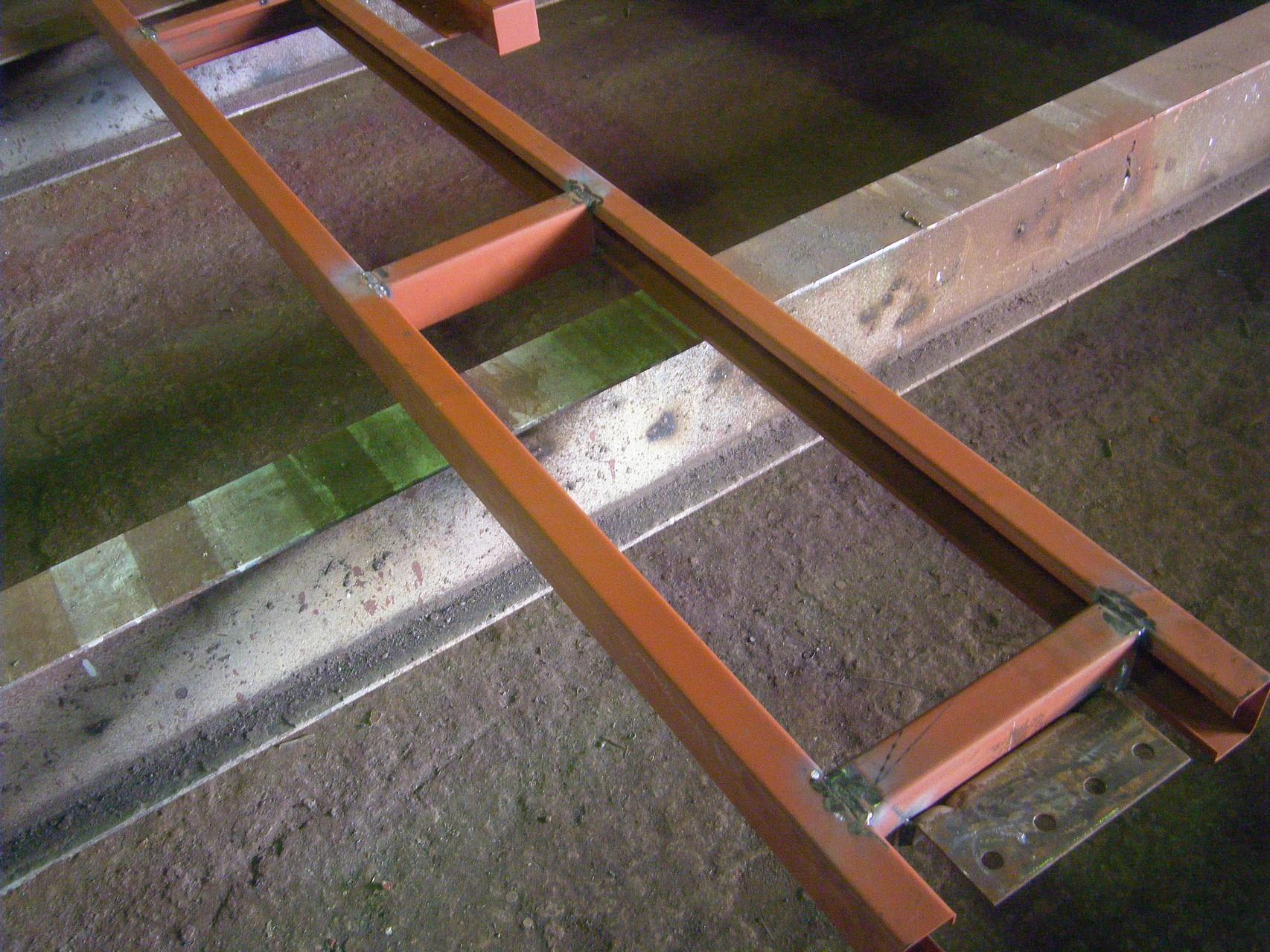 ガレージシャッター下地:工程写真