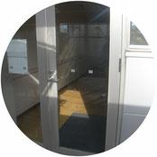 アルミ製框ドア改修工事