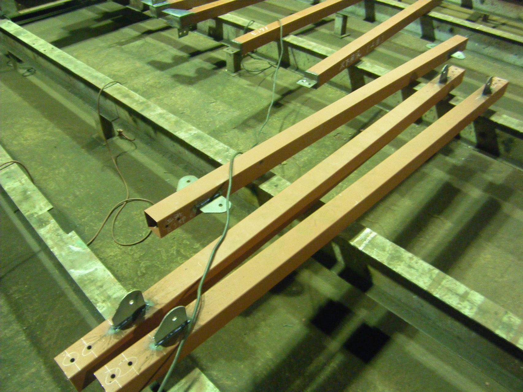 太陽光パネル架台:工程写真