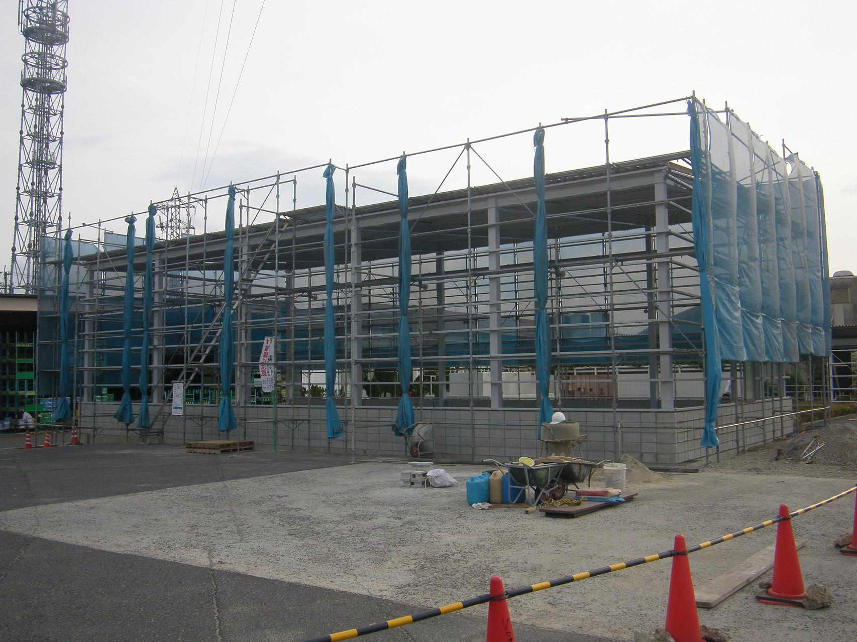 倉庫新築工事:工程写真