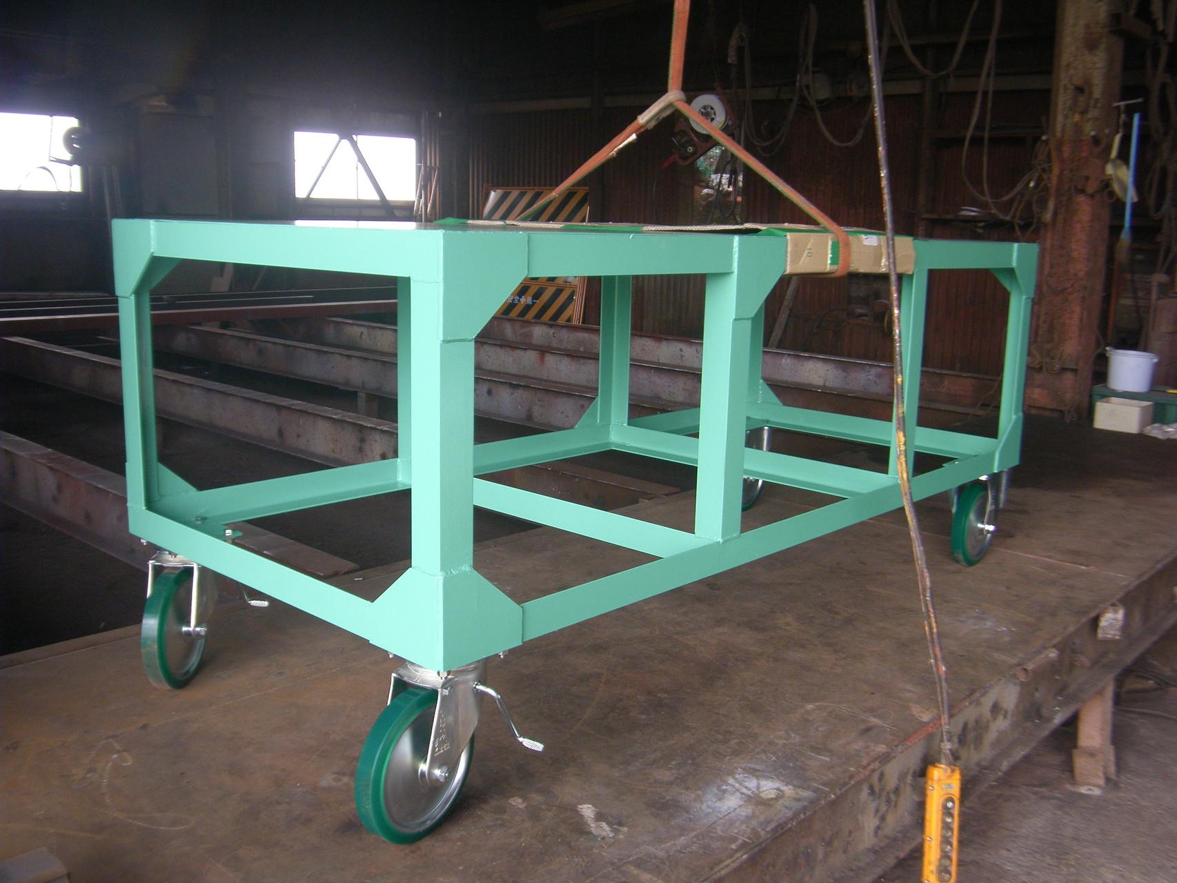 長尺台車:工程写真