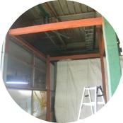 作業室増築鉄骨工事