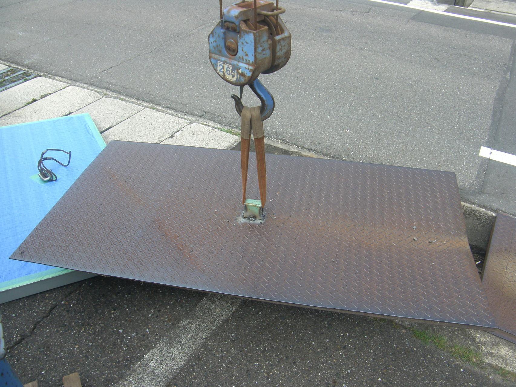 乗入れ鉄板改修工事:工程写真