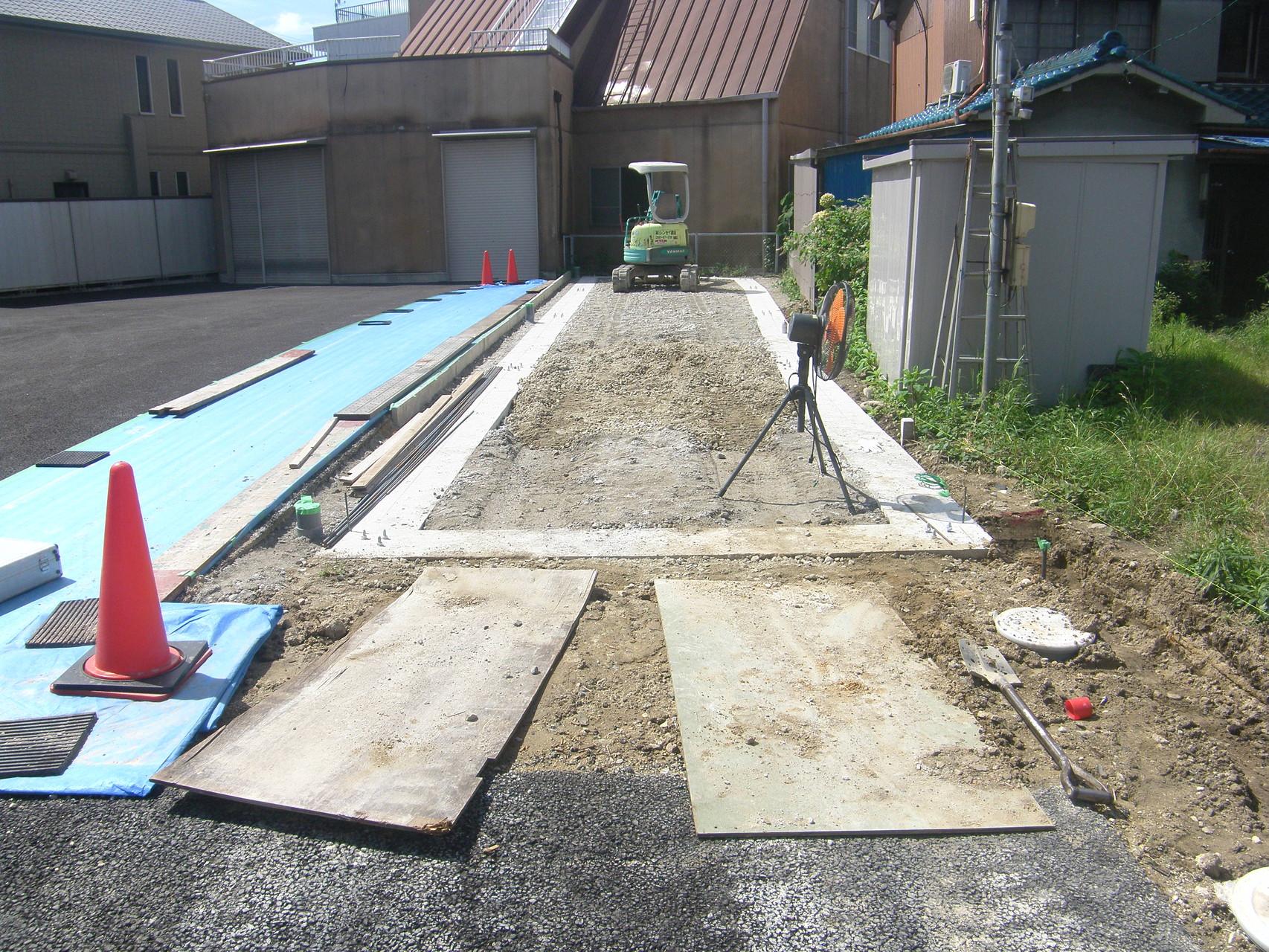 貸し倉庫新築工事:工程写真