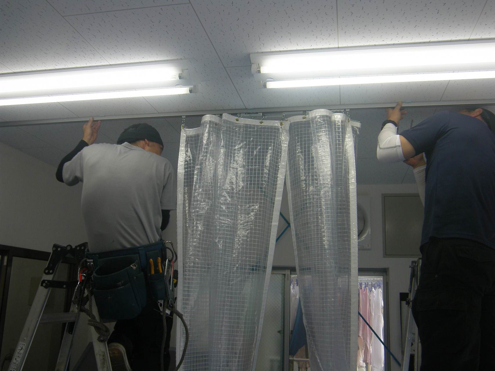 テントカーテン新設工事:工程写真