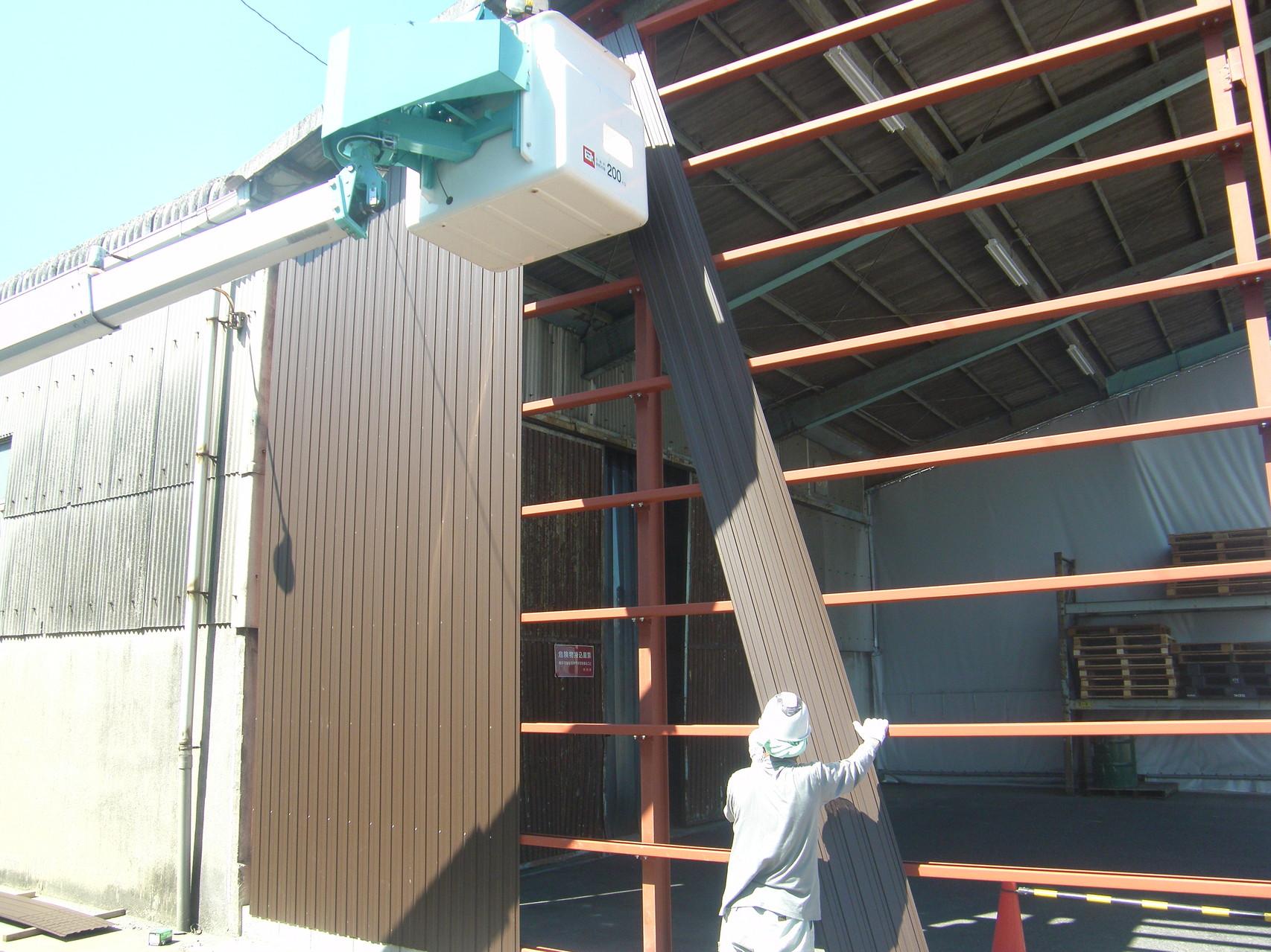 雨避け壁新設工事:工程写真