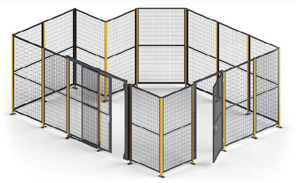 アルミ製安全柵の施工例写真
