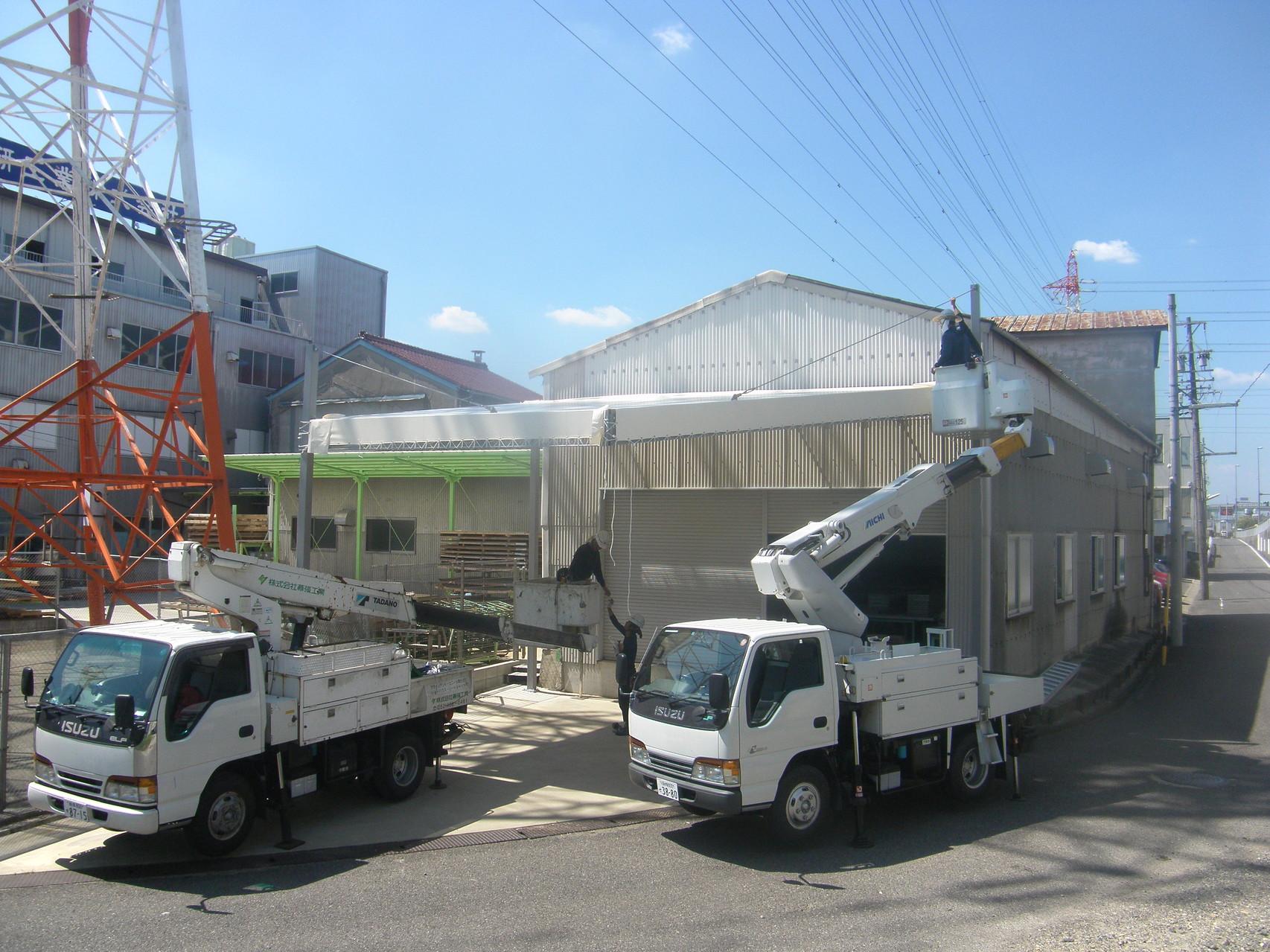 屋外荷捌き場新築工事:工程写真
