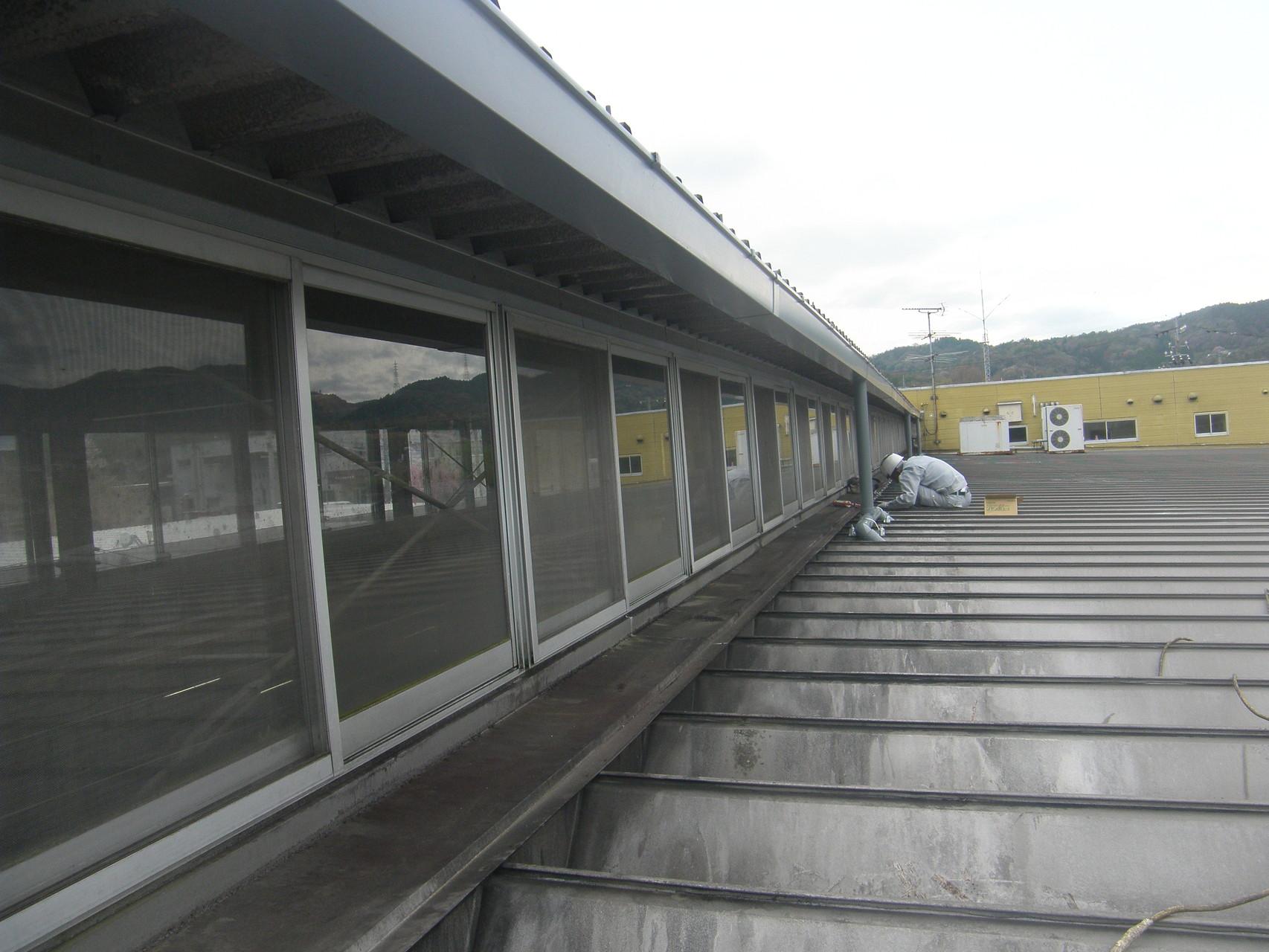 雨漏り防止対策工事:工程写真