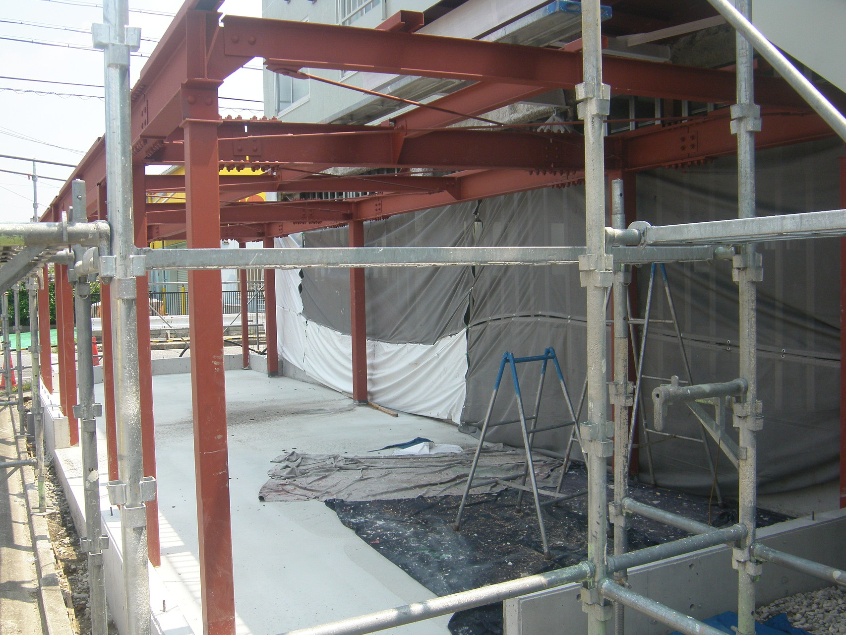 倉庫棟新築工事:工程写真