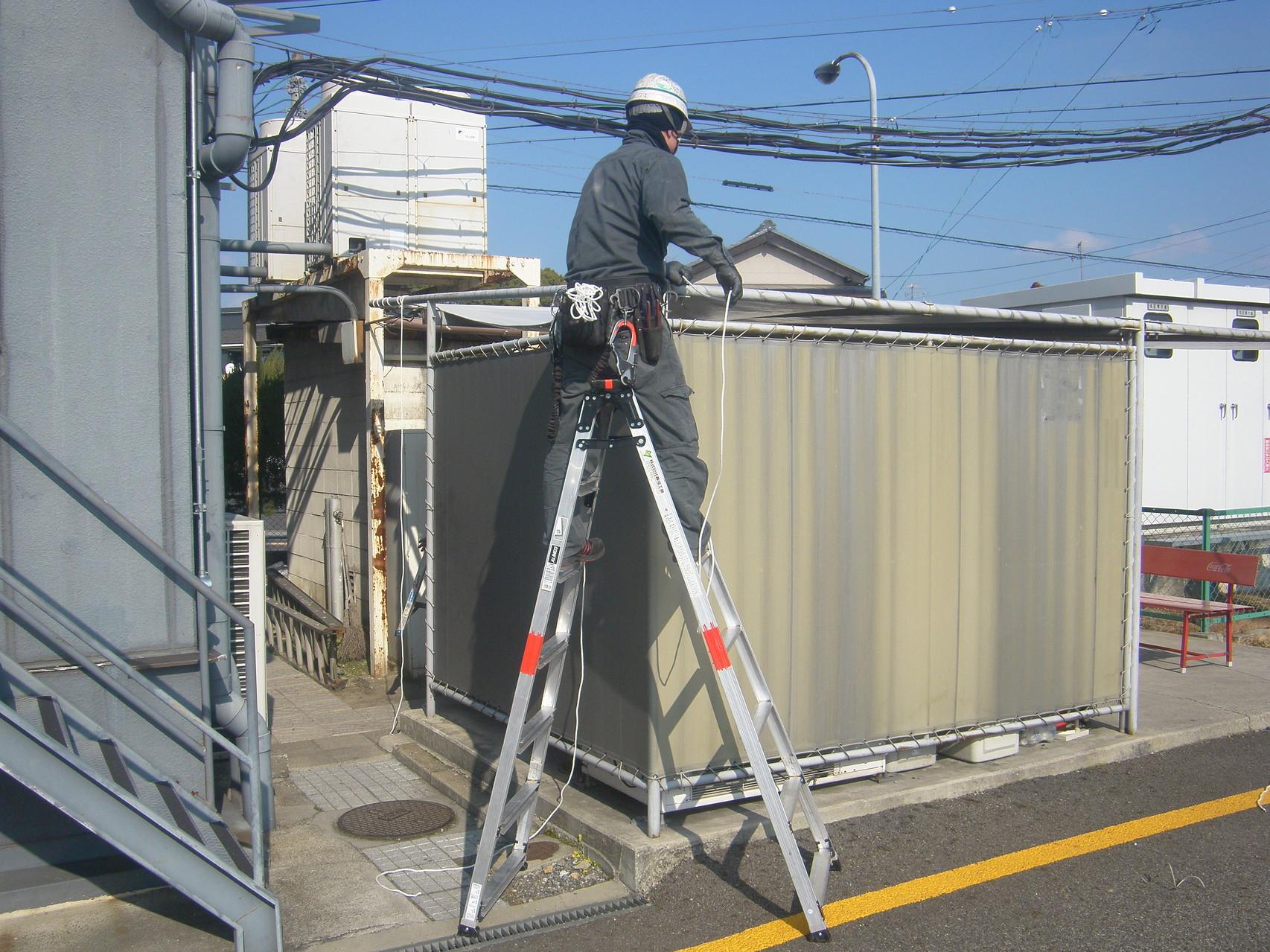 テント屋根改修工事:工程写真
