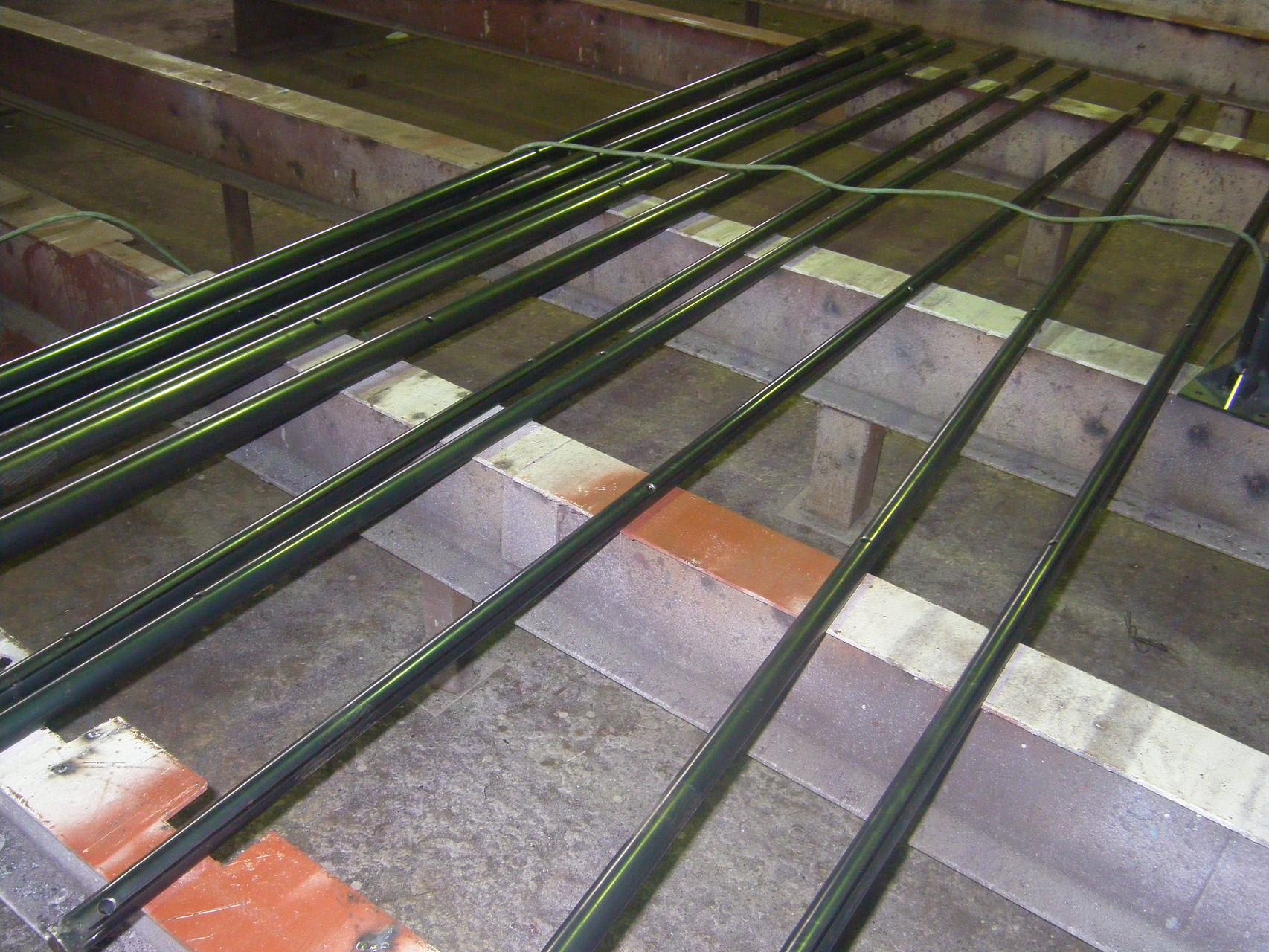 パイプフェンス工場製作:工程写真