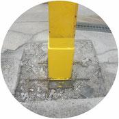 鉄骨柱腐食穴補強工事