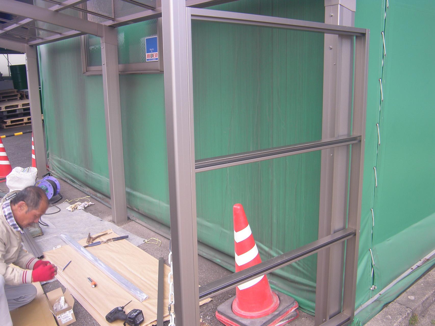 サイクルポート新築工事:工程写真