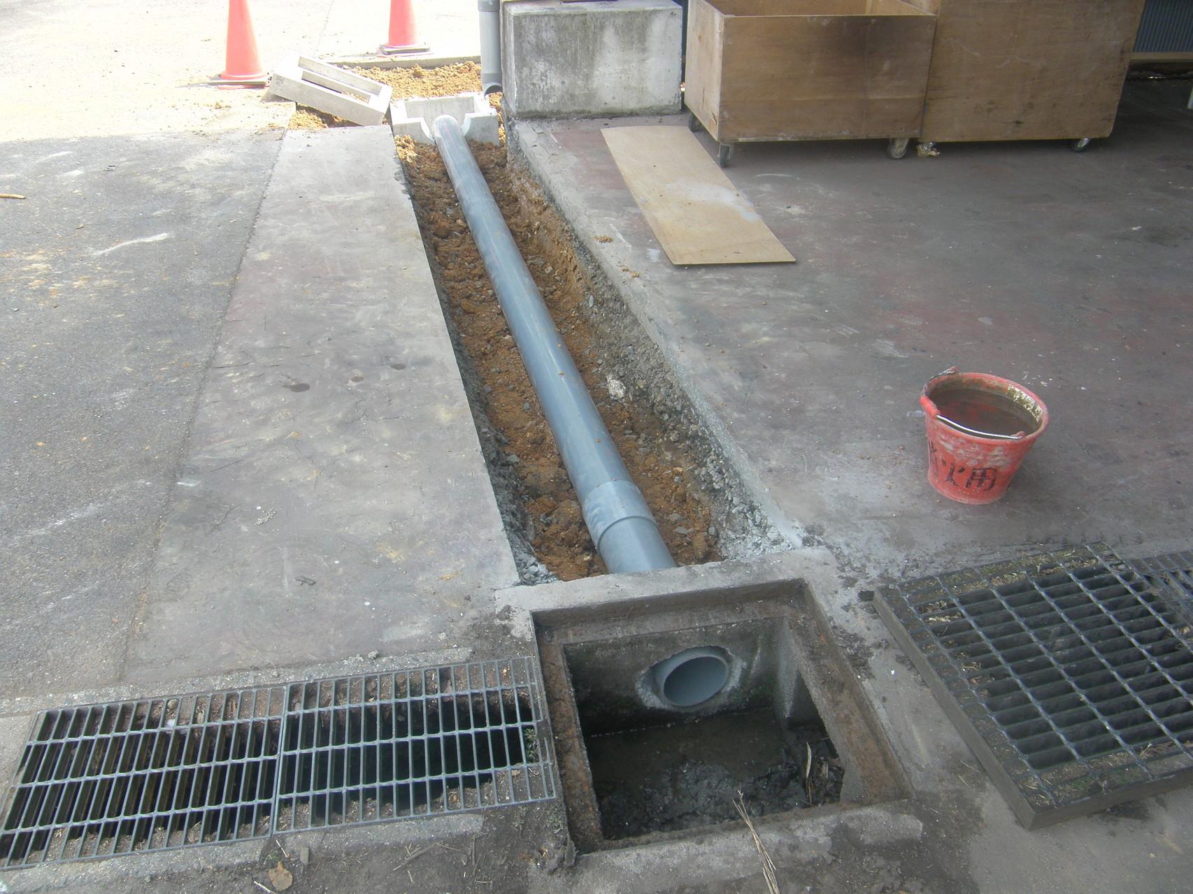 雨水排水対策工事:工程写真