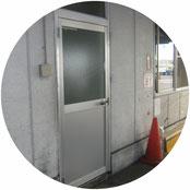 アルミ製ドア改修工事
