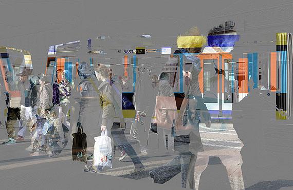 """Kurt Laurenz Theinert """"Zeitfenster Darmstadt"""", Fineart Digitalprint auf AluDibond, 90 x 140 cm, 2010"""