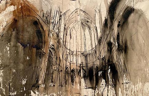 Marc Prat, Absis (Diptychon), 2020, 200 x 81 cm