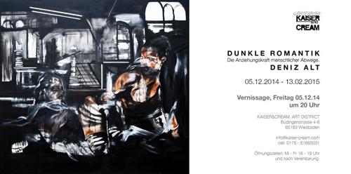 Einladungskarte Deniz Alt, Dunkle Romantik, 2014