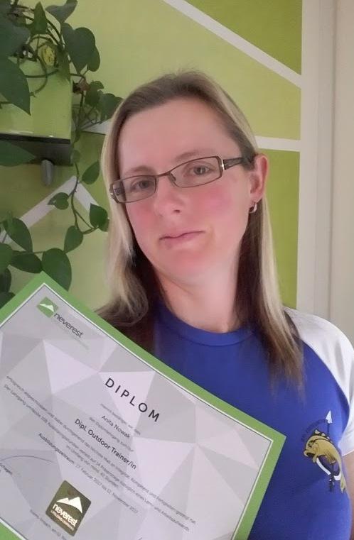 Ausbildung zur Dipl. Outdoortraininerin mit Bravour abgeschlossen :-)
