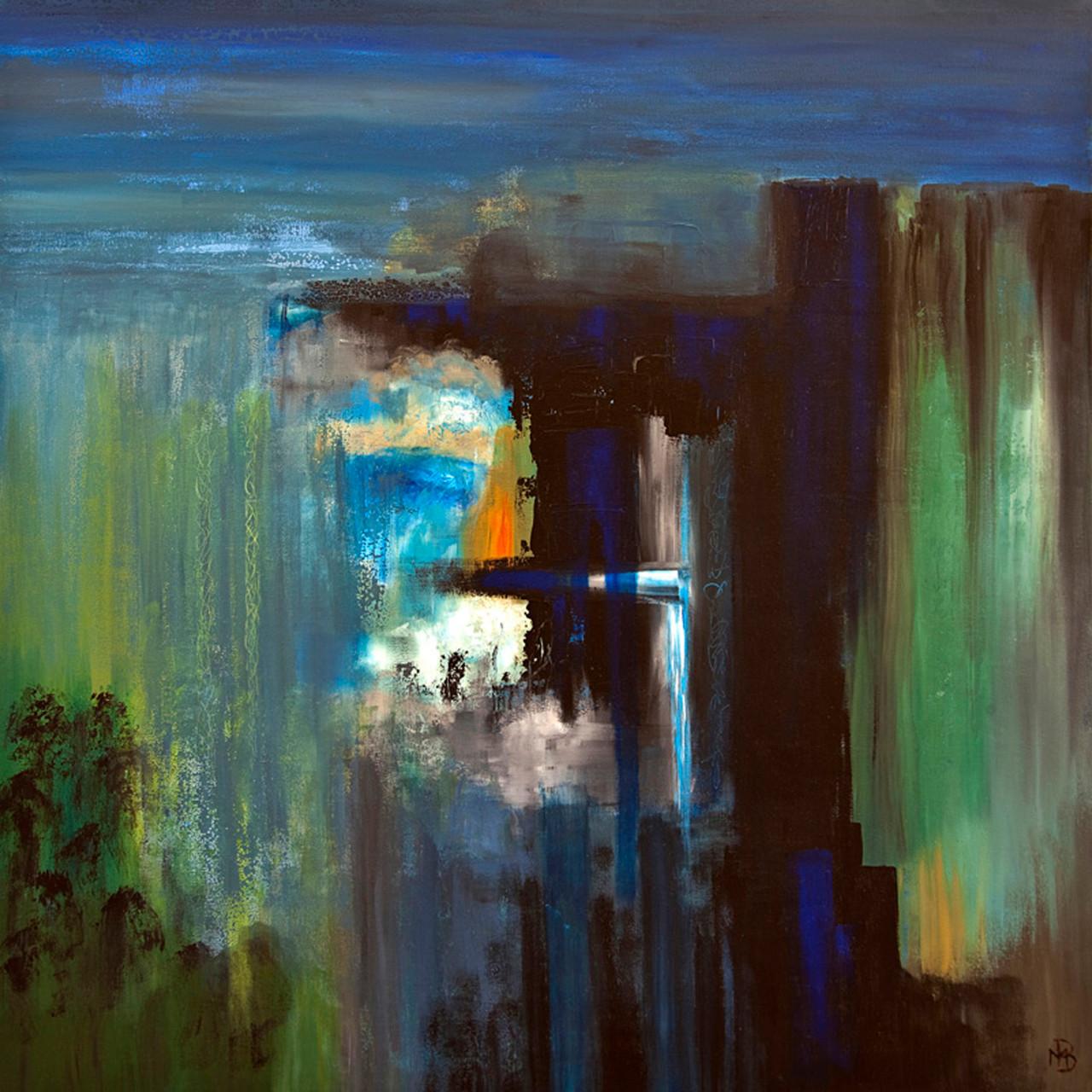 < La source > acrylique sur toile 100x100cm