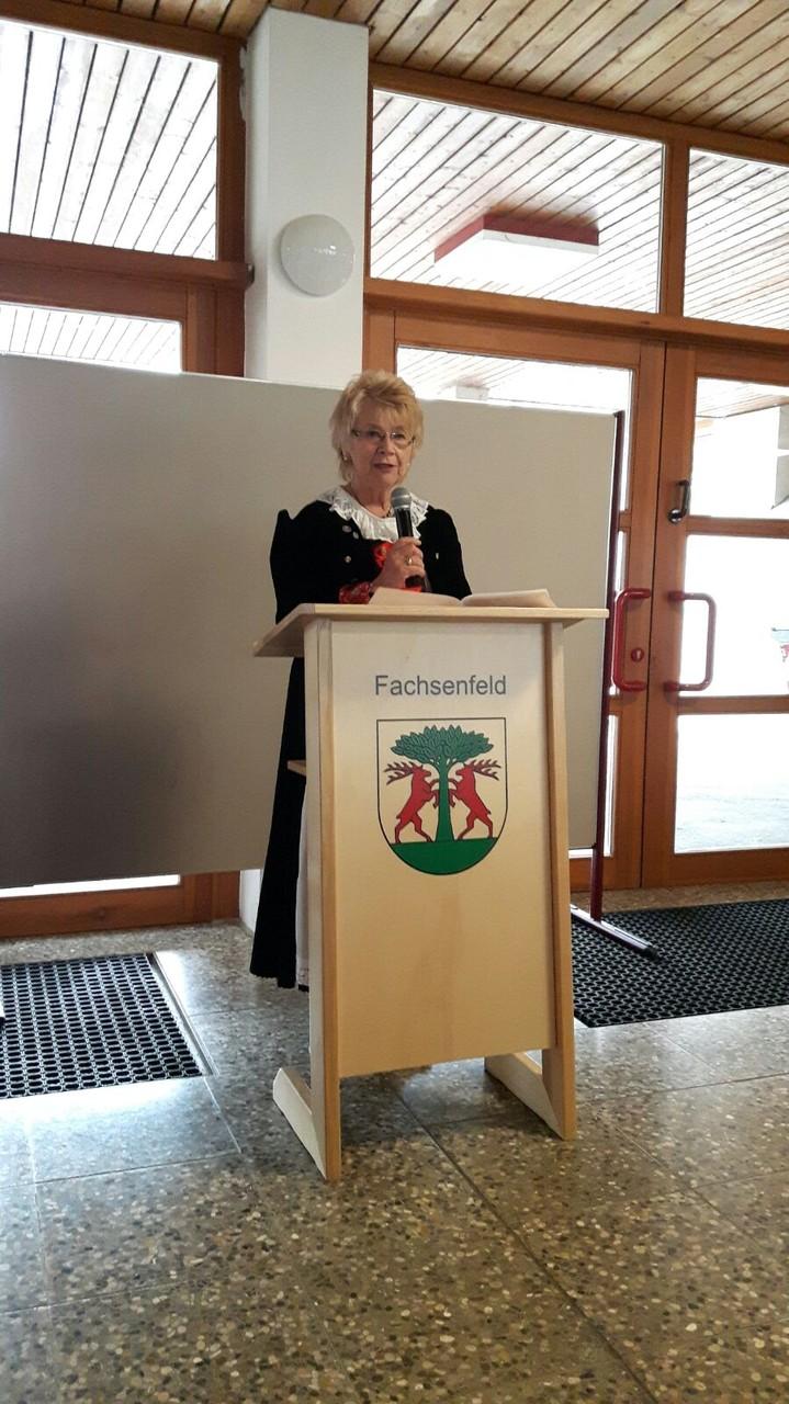 Rosina Reim, Vorsitzende der Gemeinschaft