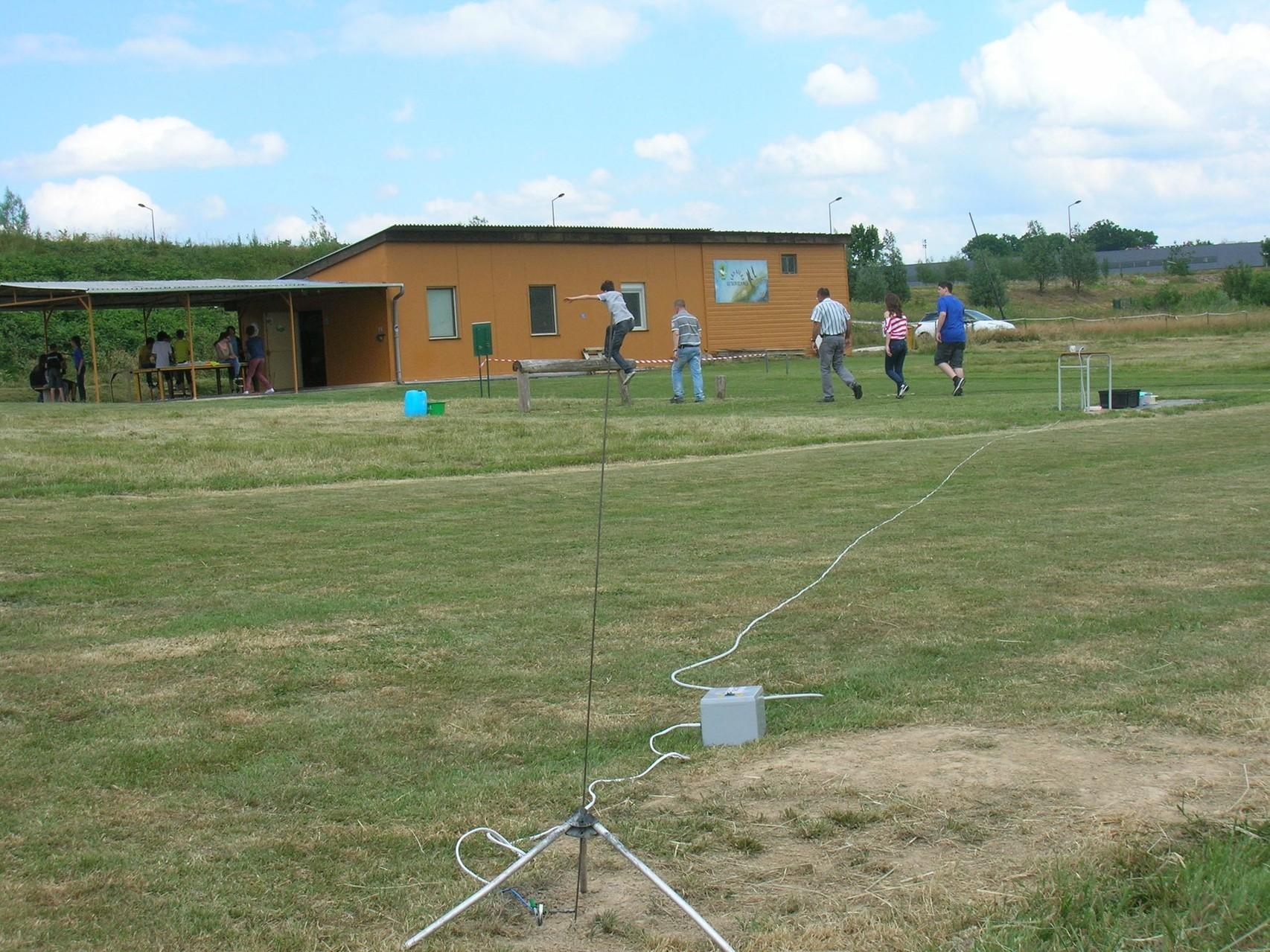 Installation du champ de tir