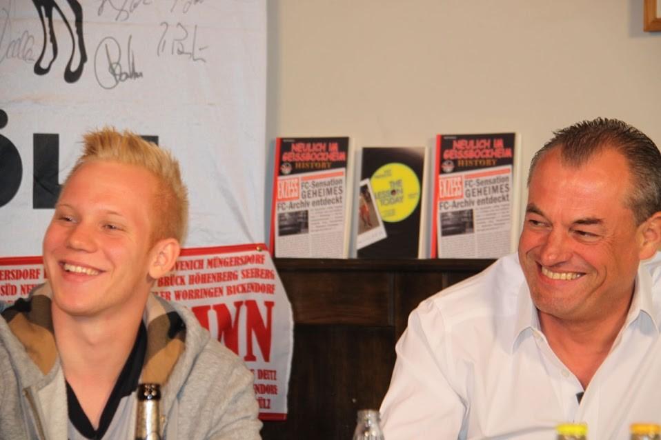 FC-Profi Sascha Bigalke und Markus Höhner von Sport1
