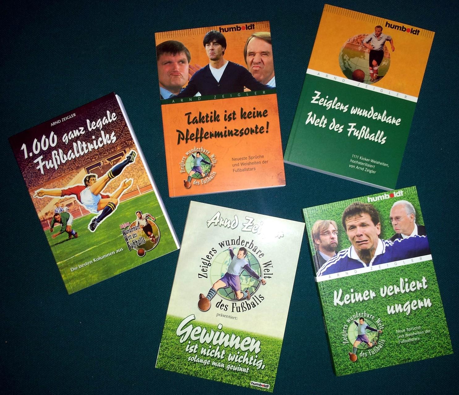Sonstige Sportbücher, zumeist von Arnd Zeigler, aus dem Humboldt Verlag