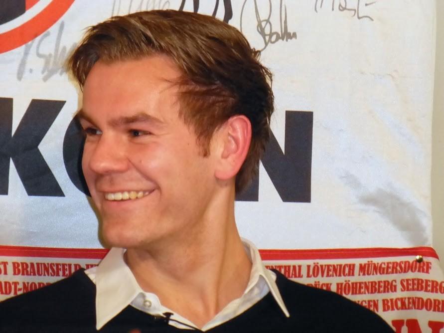 FC-Torwart Thomas Kessler bei seinem Besuch