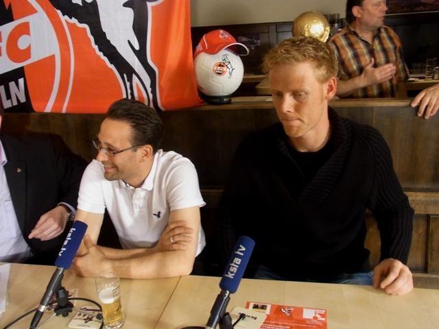 Olympiasieger und Weltmeister Jonas Reckermann (rechts) ist FC-Fan, neben ihm, Tobias Kaufmann