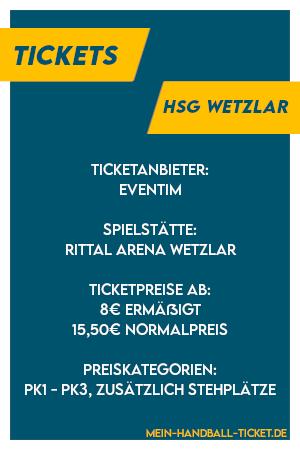 Wichtigste Infos zu HSG Wetzlar Tickets