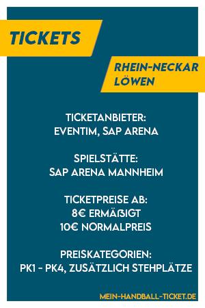 Informationen zu den Rhein-Neckar Löwen Tickets