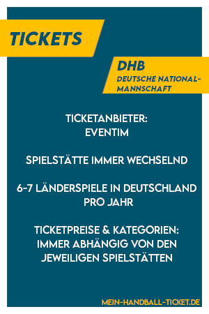Handball-Nationalmannschaft Tickets DHB