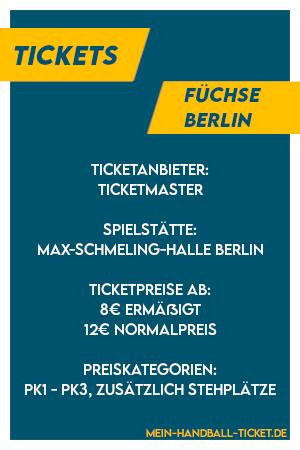 Die wichtigsten Infos für Füchse Berlin Tickets