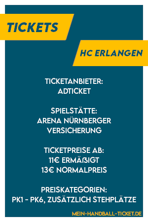 Infos zu HC Erlangen Tickets