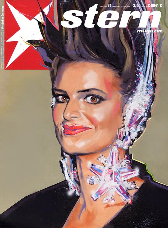 """Magazine-Cover STERN - """"Fürstin Gloria von Thurn und Taxis"""""""