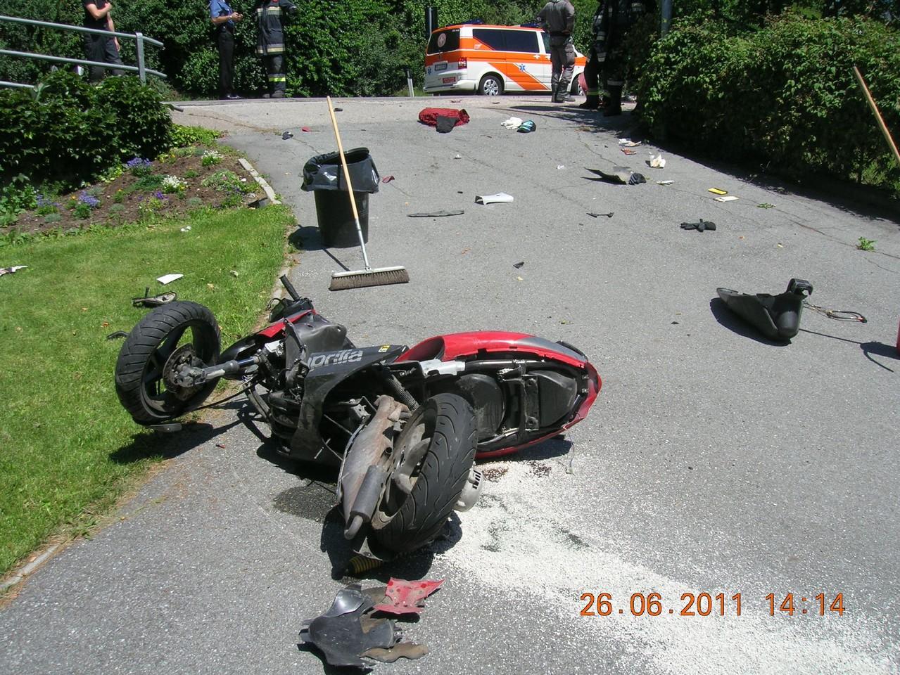 Schwerer Motorradunfall Umfahrung